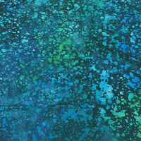 Robert Kaufman Batik Fabric, AMD-19937-425 AQUAMARINE, By The Half Yard