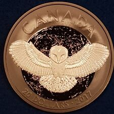 2017 1 OZ. Pure Silver Coin - Nocturnal By Nature: The Barn Owl  ID #68-1