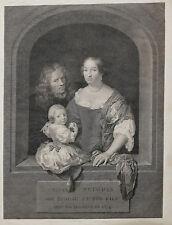François-Anne David (1741-1824) Portrait Caspar Netscher et sa famille gravure