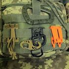 MOLLE PALS 1-inch Webbing Tactical Clips D-Ring Elastic Tie-down Strap Carabiner