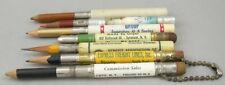 7 Vintage Bullet Pencils - USA