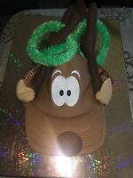 Hallmark Reindeer Ring Toss Game Hat w/ Rings New