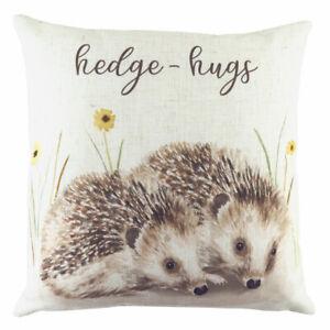 Evans Lichfield Woodland Hedgehugs  Print Cushion Cover, Multi, 43 x 43 Cm