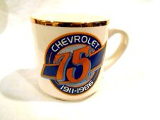 Chevrolet 75 Years 1911-1986 Commemorative Advertisement Coffee Cup