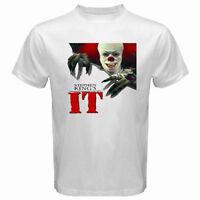 New IT Horror Clown Movie Men's White T-Shirt Size S to 3XL 100% cotton