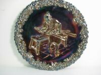 Fenton Carnival Glass Plate - 1970 Collector Series #1 - Red Base Glass