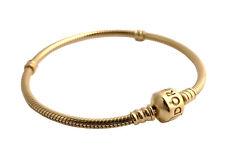 PANDORA Moments Barrel Clasp Charm Bracelet 14K Gold Vermeil Plated 590702HV