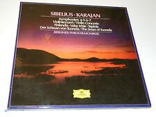 coffret box 4 LP 2740-255 Sibelius 4-5-6-7 violin Karajan Deutsche Grammophon