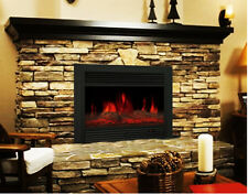 "28.5"" Embedded Electric Fireplace Insert Heater Remote Realistic wood log Glow"
