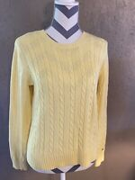 Womens Size M Tommy Hilfiger Sweater Yellow Long Sleeve Pull Over