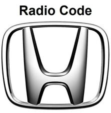 Honda Radio Code / Key Code Civic Jazz Accord Insight CRV Navigation Pilot