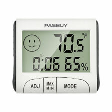 LCD Digital Thermometer Hygrometer Moisture Meter and Wired Temperature