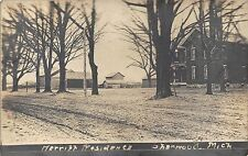 MI - 1900's REAL PHOTO Merritt Residences in Stanwood  Michigan - Mecosta County