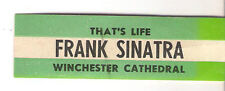 STICKER JUKE BOX - FRANK SINATRA - THAT'S LIFE - WINCHESTER CATHEDRAL