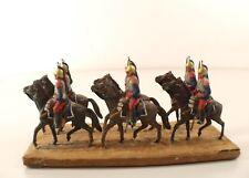 Mokarex lot 6 soldats cuirassier officier de 1914 défilé composition sur plaque