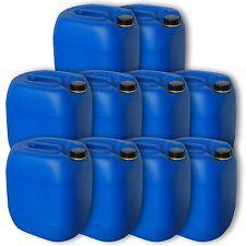 10er Pack Leerbehälter Wasserkanister 30 Liter blau Effektivvolumen 34L DIN 61