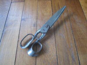 Ancienne & grande paire de ciseaux de drapier / tailleur - L. ROTTIER Paris