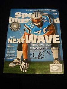 Trai Turner Autographed Sports Illustrated Magazine Carolina Panthers PROOF/ JSA