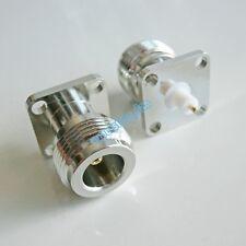 1Pcs N female Jack with 4 holes flange deck PTFE solder 17.5X17.5 RF connector