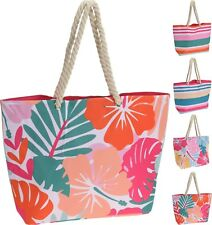 Oversize Beach Bag Tote Picnic Holiday Canvas Festival Shopping Bag Rope Handle