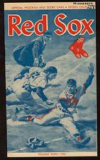1961 BOSTON RED SOX vs MINNESOTA TWINS  baseball program 8/8