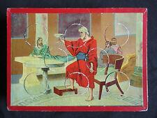 ancienne planche de loto et 8 jetons chromo pour compléter un jeux fin XIX ème