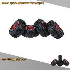 4Pcs/Set 1/10 Monster Truck Tire  Tyres for Traxxas HSP Tamiya RC Model Car W7Q1
