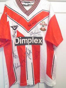Southampton Legends Home Squad Signed Football Shirt with COA 45072