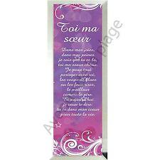 """Miroir message """"Toi ma Soeur"""" à poser/accrocher en verre idée cadeau Soeur neuf"""