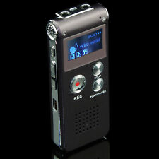 8gb Rechargeable Digital Sound Voice Recorder Mp3 Player Steel Dictaphone Record