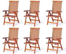 Krzesło ogrodowe składane Wellington (5-pozycyjne) 6 szt.