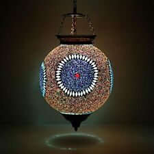 Beads And Crystal Decorated Mosaic Hanging Light Home Décor Pendant Lamp