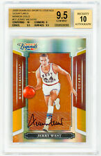 JERRY WEST 2008 Donruss Sports Legends Signatures MIRROR GOLD BGS 9.5 AUTO 10