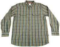 The North Face Long Sleeve Button Front Plaid Shirt Men's Size Large L