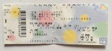 Lenny Kravitz Japan Ticket Stub 11 29 1998 Japanese Tokyo Concert