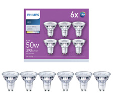 Philips LED GU10 Light Bulbs, 4.6 W (50 W) - Cool White, Pack of 6
