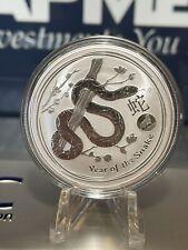 2013 1 oz Silver Australia Lunar Year of the Snake ~ Lion Privy ~ RARE ~