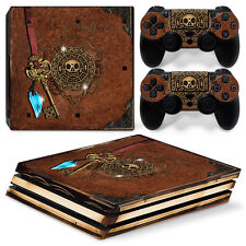 Ps4 Pro Playstation 4 Console Skin Decal Sticker Old Book Treasure Custom Design