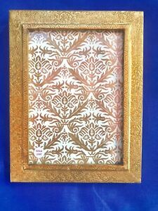 """5.5 x 7.5"""" Vertical Table Picture Photo Frame Gold Leaf on Wood Florence Italy"""