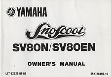 1989 YAMAHA SNOSCOOT SNOWMOBILE SV80N / SV80EN OWNERS MANUAL 12628-01-08 (341)