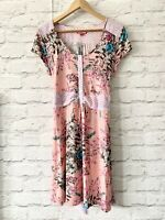 JOE BROWNS Dress Size 12 PINK | CASUAL FLORAL TUNIC