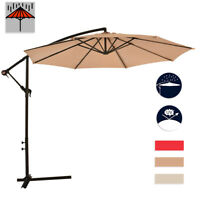New 10' Patio Umbrella Offset Hanging Umbrella Outdoor Market Umbrella D10