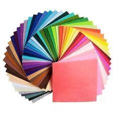 44PCS 45*45cm Assorted Color Wool Felt Fabric Sheets Patchwork Sewing DIY Craft