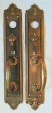 Sargent&Co Cast Bronze/Brass Door Handles Thumb Latch Pair #7943 Vtg Old Antique