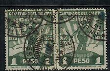 Chile 1930 Postmark San Jose de la Mariquina unidos por bisagra (A-379)