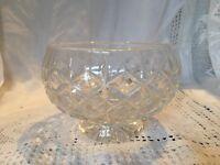 "Vintage Cut Glass Heavy Cristal Bowl 6"" Diameter 3.75"" Tall Ideal For Bonbons Et"