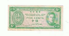 New listing Five Cents Hong Kong Paper Money