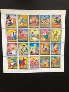 Middle East Trucial States Fujeira mnh stamp sheets Disney cartoon characters #2