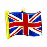 Great Britian Flag Glass Ornament British England Christmas Tree Hanging