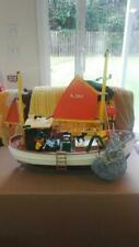 Playmobil 3551 Suzanne Fishing Trawler Near Complete with Extras!